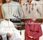 gul ahmed menswear Kurta Shalwar Collection in Summer Gents Party 150x138 Nishat Naqsh Piping Kurta Shalwar Kameez Design 2013