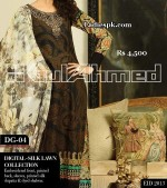 gul ahmed women eid collection 2013 with price digital silk 4500 150x169 Eid Frock Collection Design 2013 for Girls in Pakistan, India