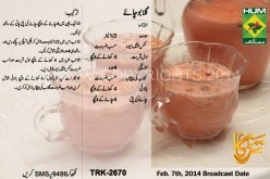 Gulabi Chai Recipe in Urdu & English by  Masala TV