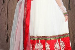 Indian Anarkali Frock Designs 2013 with Pajama for Girls