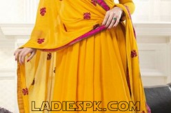 Yellow Anarkali Frocks Fashion Style For Girls