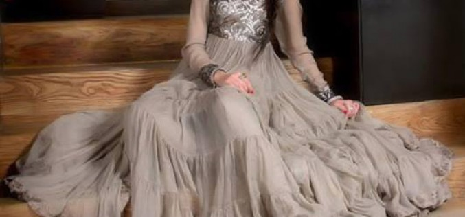 Latest Fashion Trends Frocks Designs 2014 for Girls in Pakistan