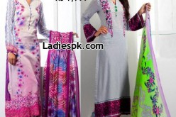 Long Shirts Feminine Lawn 2013 with Prices Shariq Textiles