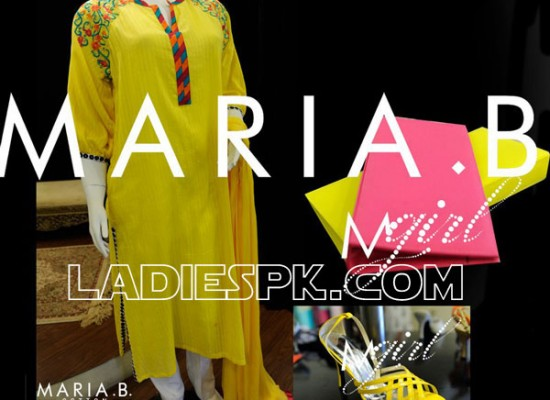 Maria B Cotton Long Evening Dresses 2013 in Pakistan