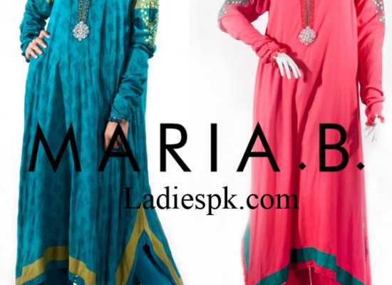 Maria B Winter Dresses Designs 2013 A Line Frocks Kameez