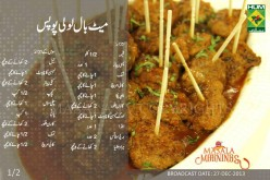 Meatball lollipops Recipe in Urdu, English by Masala Mornings