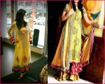 mehndi dresses for girls 2012 c 150x120 Indian Fancy Frock Designs for Mehndi