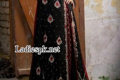 New Angrakha Style Dress Shirt Frock in Black For Wedding 2014