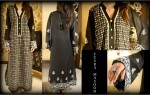 new kurta design style for girls women 2013 150x95 Spring Casual Pakistani Kurta with Churidar Pajama Pyjama