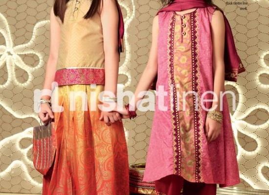 Nishat Linen Eid Collection 2013 for Kids, Little Girls Dress