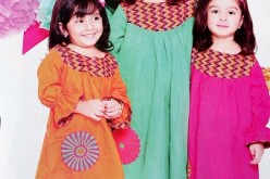 Beautiful Kids Eid Collection 2013 Frocks & Choori Pajama Design