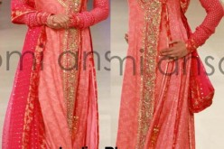 Angrakha Style Bridal Wedding Dresses 2013 by Nomi Ansari