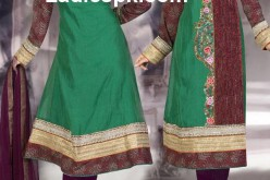 indian Angrakha Style Kameez for Girls