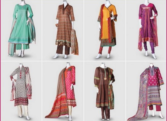 Pakistani Lawn Collection 2014 for Women and Girls