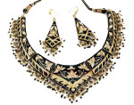 pradeep lac necklace earrings 2013 india 150x118 Gold Jewellery Designs 2013 Bridal Necklace with Earrings Set