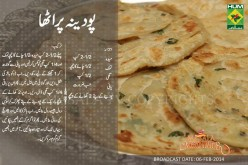 Pudina paratha  Recipe in Urdu, English by Masala Mornings