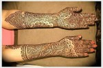 rajasthani mehndi designs for hands 2013 2014 150x100 New Eid Chand Raat Special Mehndi Designs 2013 Hand for Girls