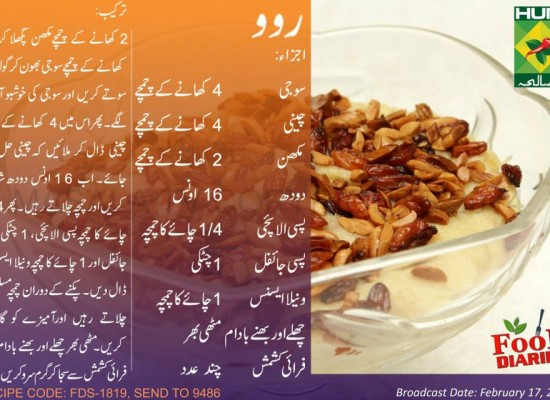 Ravo Recipe in Urdu English Zarnak Sidhwa Masala TV