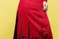 Girls Red and Black Shirt Zahra Ahmed Summer Collection 2013