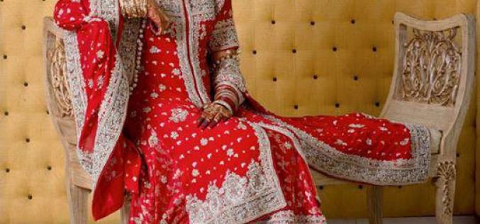 Bridal Wedding Open Shirt Design Fashion 2013 in Pakistan