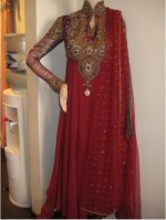 red formal boutique dresses for girls women 2013 frock 150x199 New Lon Frock Style in India & Pakistan