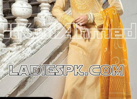 Pakistani Shalwar Kameez Design for Women by Gul Ahmed