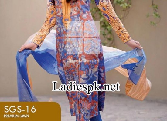 Signature Series Lawn Collection by Gul Ahmed Prices 2014 2015