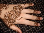 simple arabic eid ul fitr 2013 mehndi designs for hands 150x112 New Eid Chand Raat Special Mehndi Designs 2013 Hand for Girls