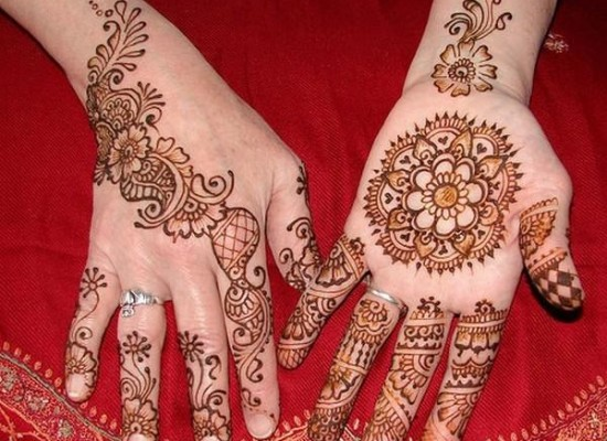 Latest Eid Special Simple Henna Mehndi Designs 2013 for Hands