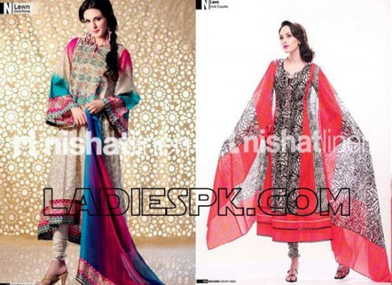 Nishat Lawn Summer Dresses Collection 2013 for Women