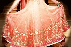 Fancy Long Umbrella Frock in Pink For Bridal Wadding 2013