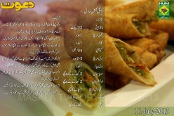 Vegetable Roll Recipe in Urdu by Chef Zakir Dawat Masala TV