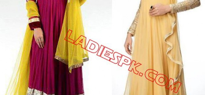 Frock Outfits Collection for Mehndi Wedding