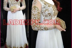 Indian White Boutique Frocks for Wedding & Party