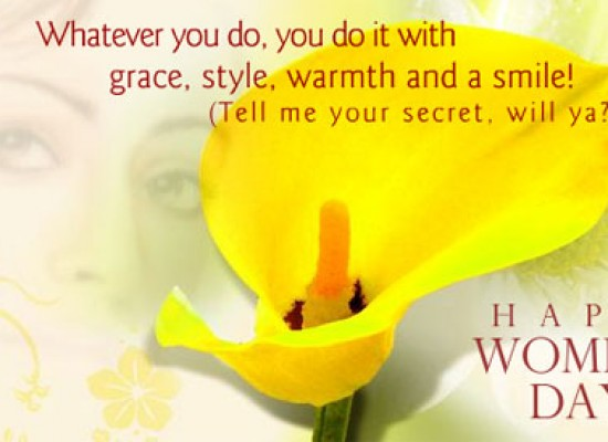 Happy Women's Day 2013 Cards and Wishes SMS Messages